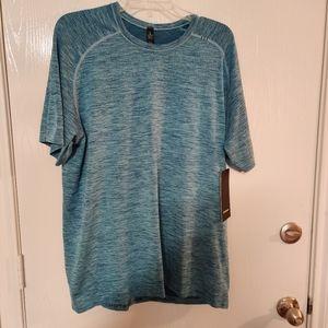Lululemon Men's Metal Vent Tech Shirt Size XL Blue